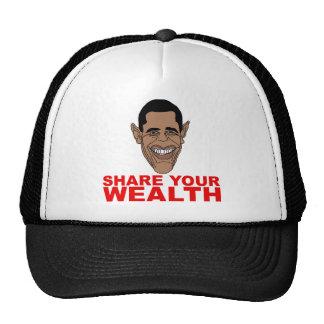 Obama: Comparta su riqueza Gorros Bordados