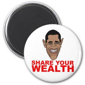 Obama: Comparta su riqueza Imán Redondo 5 Cm