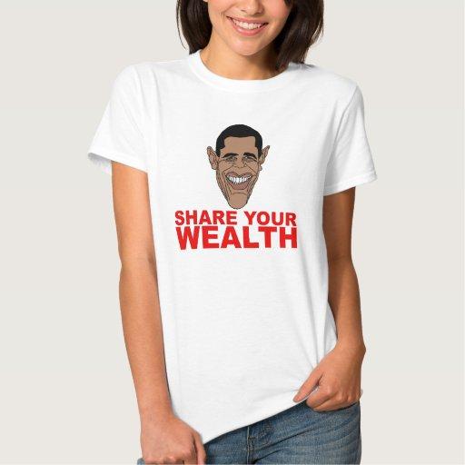 Obama: Comparta su riqueza Remeras
