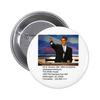 Obama Complaints Pinback Button