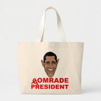 Obama: Comrade President Canvas Bags