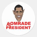 Obama: Comrade President Stickers
