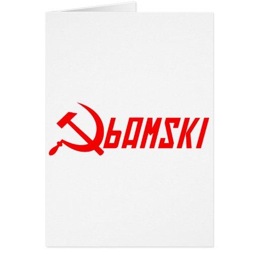 Obama comunista tarjeta