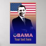 Obama con el texto - poster - plantilla