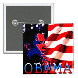 Obama con la bandera americana pin