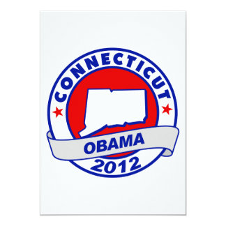 Obama - Connecticut 5x7 Paper Invitation Card
