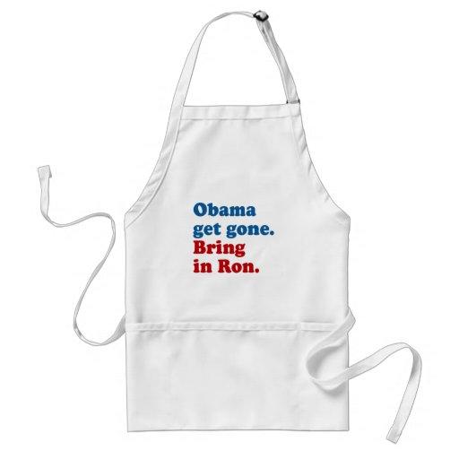 Obama consigue ido. Traiga en el Ro Delantal