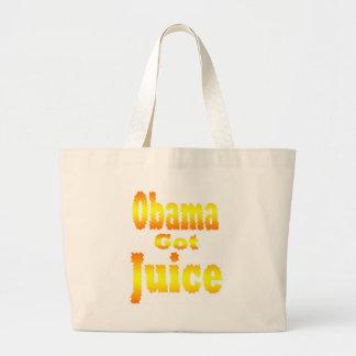 Obama consiguió a jugo amarillo anaranjado bolsa