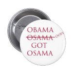 """""""Obama consiguió botón de Osama"""" Pins"""