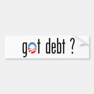 ¿Obama consiguió deuda? Pegatina Para Auto