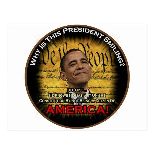 Obama Constitution Postcard