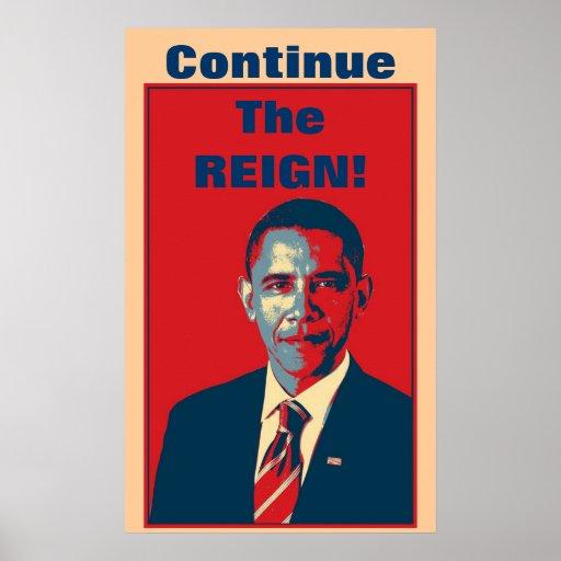 Obama - continúe el poster del arte pop del reinad