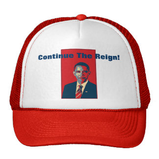 Obama - Continue The Reign Pop Art Product Mesh Hats