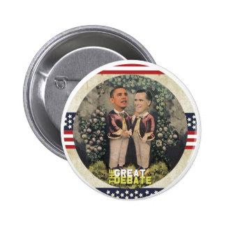 Obama contra Romney Pins