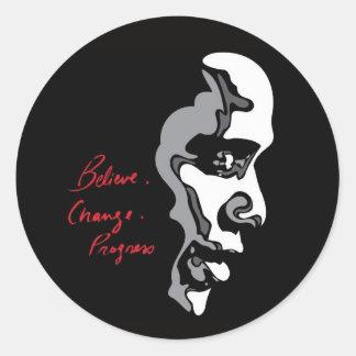 Obama Crea al pegatina del progreso del cambio
