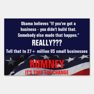 Obama cree que usted no construyó ese negocio señal