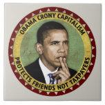 Obama Crony Capitalism Ceramic Tile