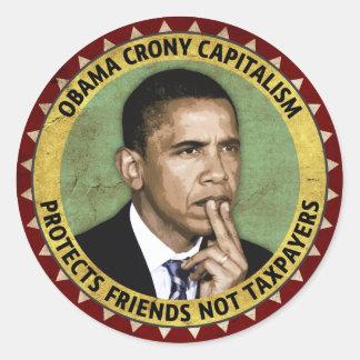 Obama Crony Capitalism Classic Round Sticker