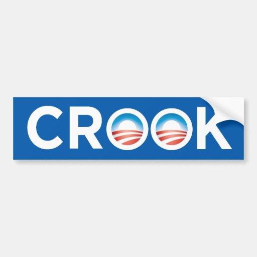 Obama Crook Bumper Sticker Bumper Sticker