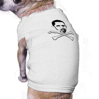 Obama Cross Bones Dog Tee Shirt