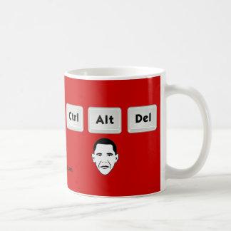 Obama: Ctrl-Alt-Del Coffee Mugs