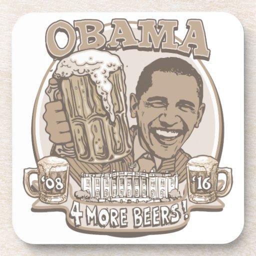 Obama cuatro más cervezas posavasos de bebidas