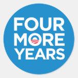 Obama cuatro más pegatinas de los años pegatinas redondas
