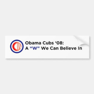 Obama Cubs Bumper Sticker Car Bumper Sticker