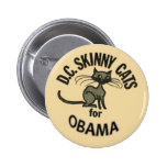 Obama D.C. Skinny Cats Button