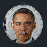 "Obama Dartboard<br><div class=""desc"">Perfect gift for the conservative in your life . . . Obama dartboard with a perfectly placed bullseye.</div>"