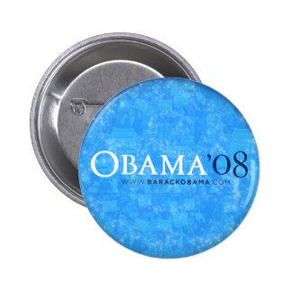 Obama de 'botón 08 azules pin redondo de 2 pulgadas