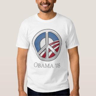 OBAMA de 'botón 08 signos de la paz Camisas