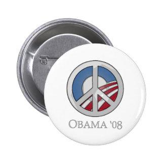OBAMA de 'botón 08 signos de la paz Pin