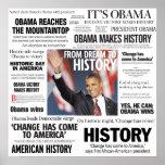 Obama: De sueño al poster del título de la histori