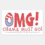 Obama debe ir 2012 pegatinas