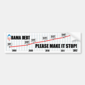 Obama Debt - Please Make It Stop Bumper Sticker