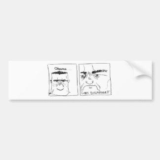 Obama decepciona pegatina de parachoque