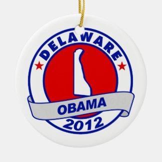 Obama - Delaware Christmas Ornaments
