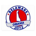 Obama - Delaware Tarjeta Postal
