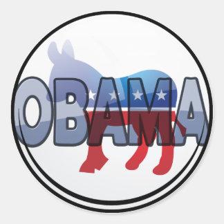 Obama Democrat Design Classic Round Sticker