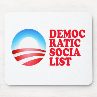 Obama Democratic Socialist Mouse Pad