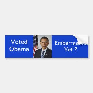 Obama desconcertó a la pegatina para el parachoque pegatina para auto