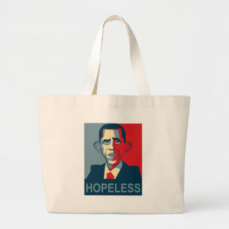 Obama desesperado bolsa tela grande