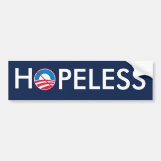 Obama DESESPERADO Pegatina De Parachoque