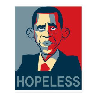 Obama desesperado tarjetas postales