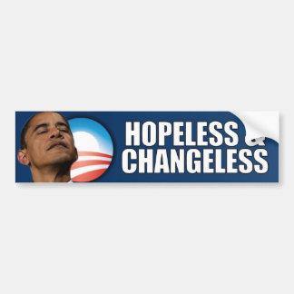 Obama - desesperado y invariable pegatina para auto