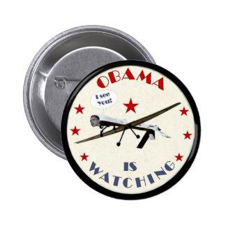Obama despredador pin redondo de 2 pulgadas