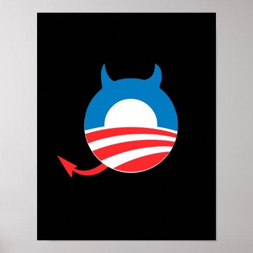 Obama Devil blue Posters