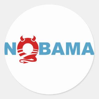 obama devil classic round sticker