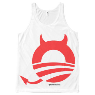 Obama devil - Politiclothes Humor -.png All-Over Print Tank Top